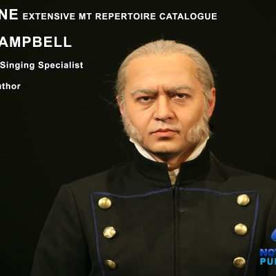 Image of baritone singer and details of Ross Campbells Baritone Musical Theatre Repertoire